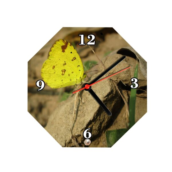 Octagon Shape Personalized Photo Printed Wooden Table Clock
