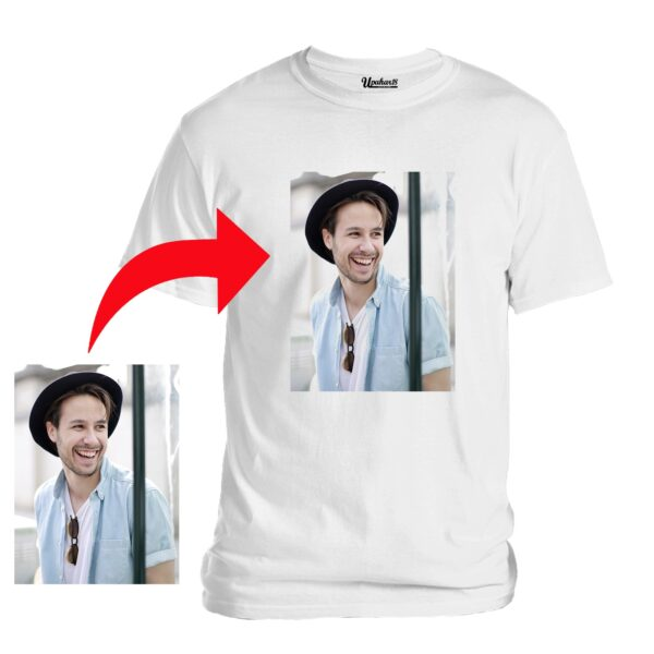 Personalized Photo Printed Premium Cotton Half Sleeve White Tshirt