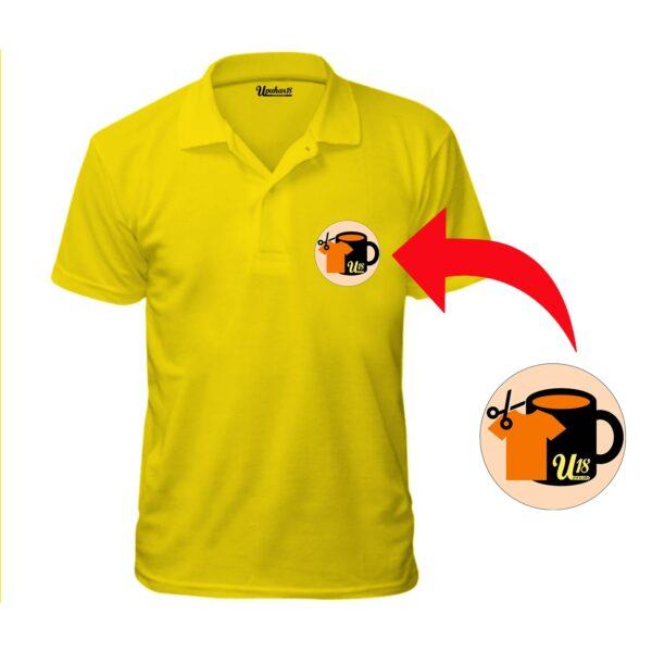 Personalized Photo Printed Mixed Kulti Half Sleeve Yellow Tshirt