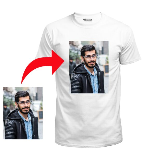 Personalized Photo Printed Polyester Half Sleeve White Tshirt (Soft)