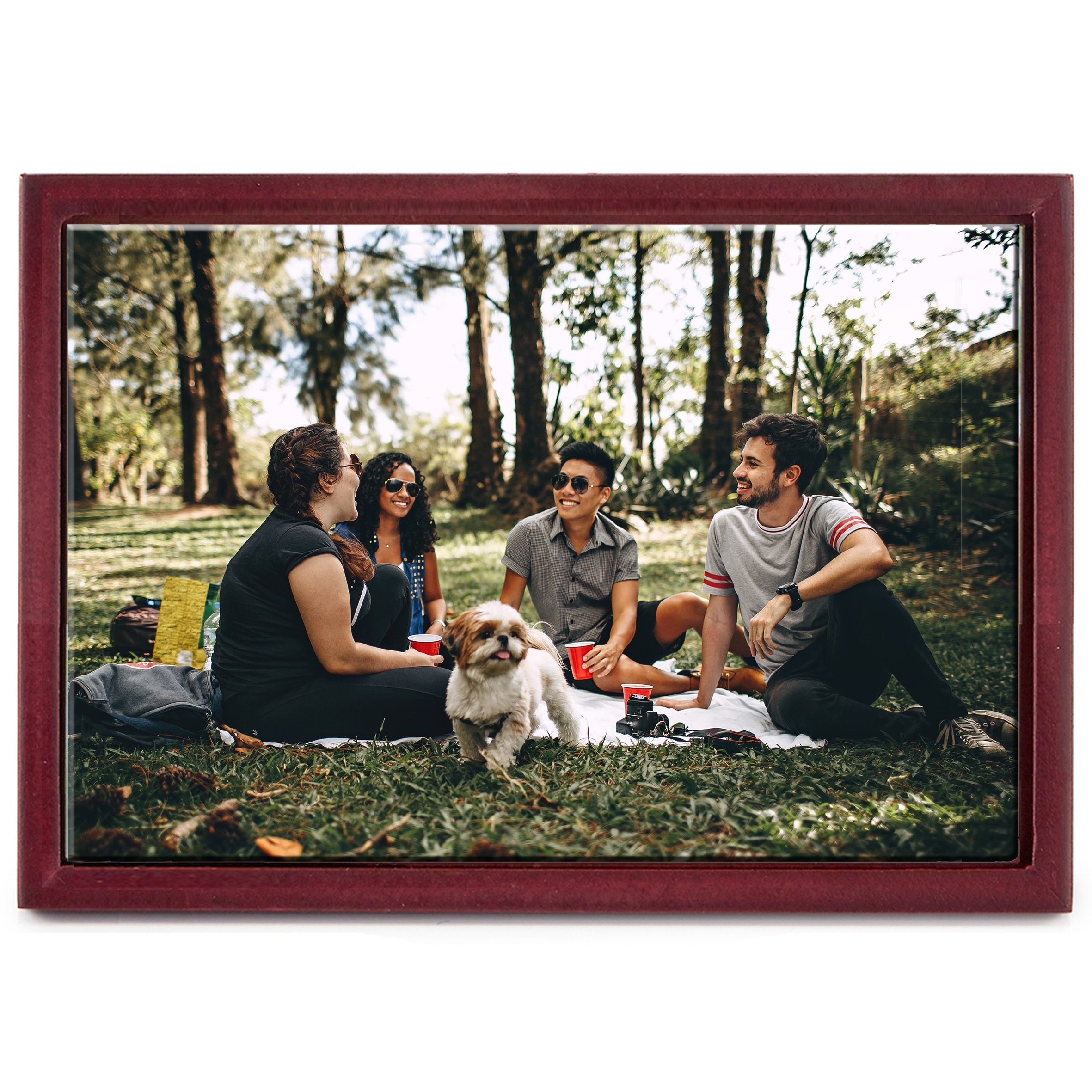 """8"""" x 12"""" Personalized Photo Printed Ceramic Tile (with Wooden Frame)"""