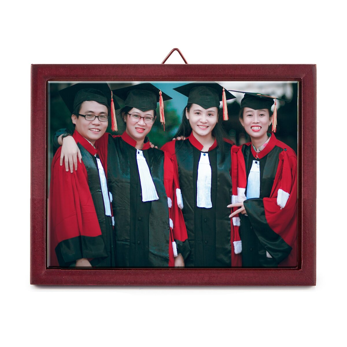 """8"""" x 6"""" Personalized Photo Printed Ceramic Tile (with Wooden Frame)"""