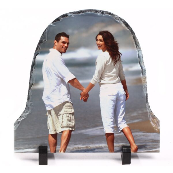 Bell Shape Personalized Photo Printed Rock Stone Frame